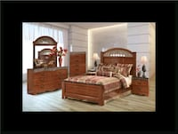 11pc Ashley Cherry bedroom set with mattress Ashburn, 20147