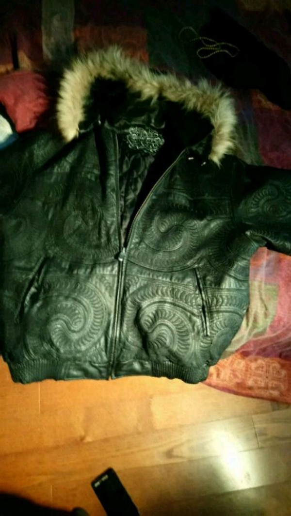 Brand new leather bomber (never worn)