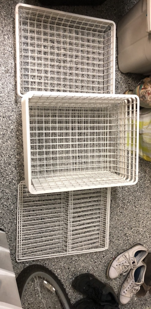 Container Store ELFA Baskets Large Medium And Slanted Closet Organizer Or  Garage