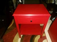 Red one drawer night stand  57 km