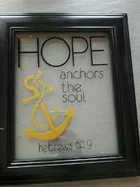 Hope anchors the soul glass artwork with black frae Tulare, 93274