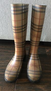 pair of classic check Burberry rainboots