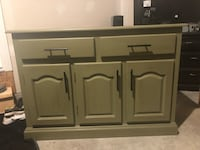 Olive colored slightly distressed cabinet Tinley Park, 60487
