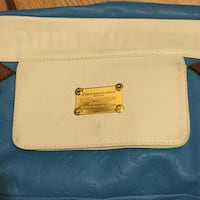 white and blue Louis Vuitton leather bag London, E4 7RY