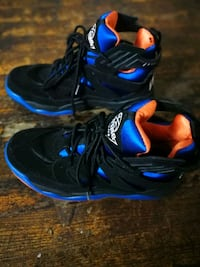 pair of black-and-blue Nike basketball shoes Queens, 11373