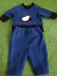 Baby's blue and dark blue sweat pants set  size 18 months brand new