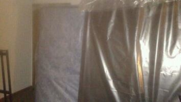 Full size firm brand new mattress and box spring still in plastic
