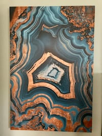 Large Canvas Painting of Beautiful Geode Chesapeake, 23322