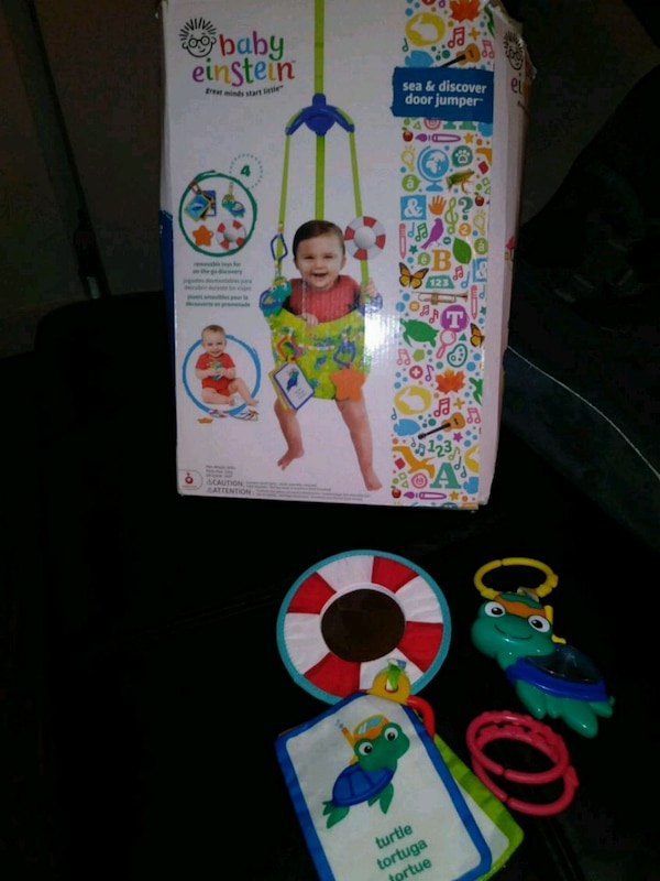 43da5cc165ad Used Baby Einstein sea and discover door jumper for sale in San ...