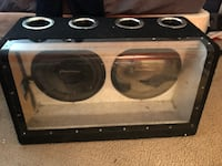 black and gray subwoofer speaker Hyattsville, 20784