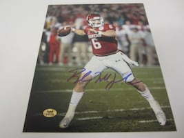 Baker Mayfield Oklahoma Sooners Signed 8x10 Photo Certified