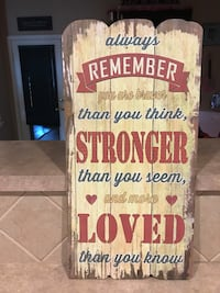 "NEW Faux Wooden Like Fence Picture Still in Plastic. ""Always Remember You Are Brave..,"" Cibolo, 78108"