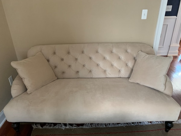 Used Pottery Barn Couch Barely