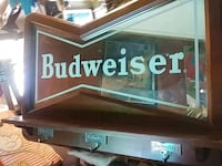 rectangular Budweiser mirror with brown wooden fra Jacksonville Beach, 32250