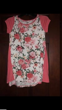white and red floral sleeveless dress Winfield, 25213