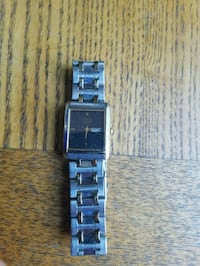rectangular silver analog watch with link bracelet Springfield, 01104