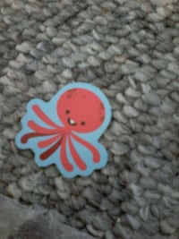 red octopus sticker Toledo, 43605