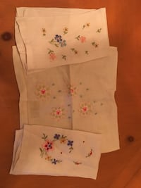 Hand embroidered finger towels