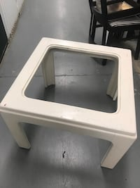 Two end tables both comes with glass tops