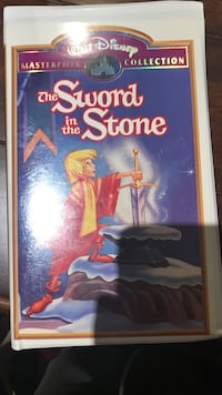 Wald Disney The Sword in the Stone movie case