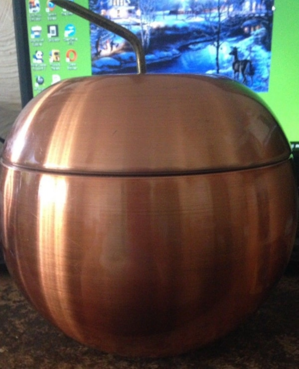 3f8a05c1bc0fa Used Rare Vintage Daydream Retro Copper coloured Anodised Apple Ice bucket  kitsch for sale in Guildford - letgo