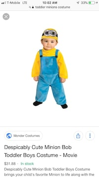 Toddler minion costume comes with a minion candy Bucket Ventura, 93003