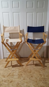Pier 1 director's chairs, light in color CHARLESTOWN