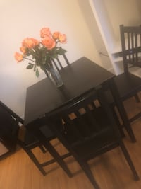 rectangular brown wooden table with four chairs dining set Gaithersburg, 20879