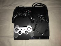black Sony PS3 slim console with two controllers San Jose, 95116