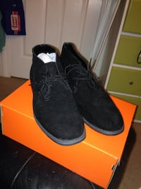 pair of black suede shoes with box North Andover, 01845