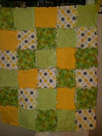 """Baby Rag Quilt with machine quilting, Size: 37"""" x 45"""" Cambridge, N1R 1N2"""
