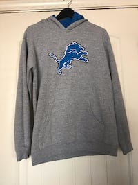 gray and blue Detroit Lions pullover hoodie