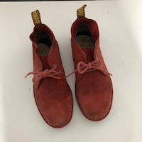 Dr.martin red suede shoes - 7 Toronto, M2M 4M7
