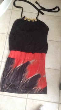 Women's black and red strapless dress spandex pick up in Laval