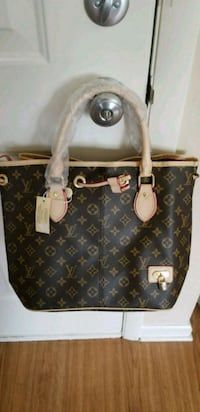 brown monogrammed Louis Vuitton leather tote bag Aberdeen