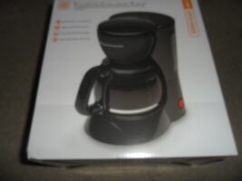 Toastmaster 5 Cup Coffee Maker Black w/ Swing Out Brew Basket Pause & Serve NEW