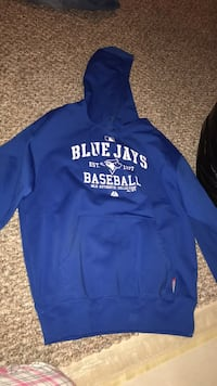 blue and white Hollister pullover hoodie Springwater, L0L