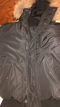 black leather zip-up jacket New York, 10453
