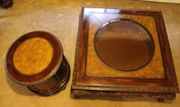 *OR BEST OFFER* Two brown wooden table set Longmont, 80504