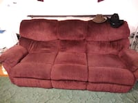 red suede 2-seat sofa Hardy, 24101