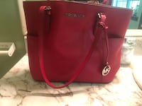 red Michael Kors leather tote bag Riverdale, 30296