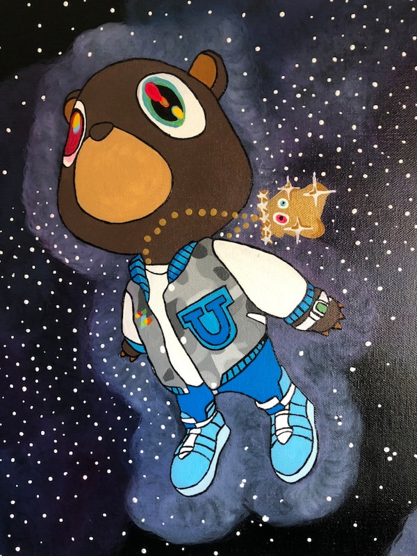 Yeezy Dropout Bear Painting