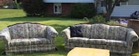 Gray and white fabric loveseat Mentor, 44060