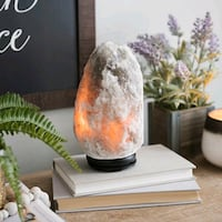 Natural Shape Gray Salt Lamp | New Box Pack with Dimmer Cord & Bulb Markham, L3R 8S7