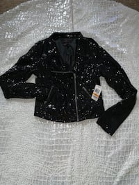Black Sequin Jacket BOWIE