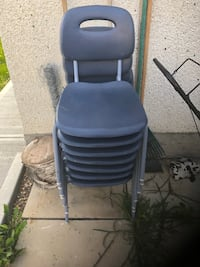 Black leather padded rolling chair Edmonton, T5P 2B2