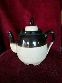 white and black ceramic teapot Harpers Ferry, 25425
