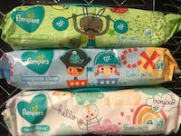 Pampers Wipes, 56-72 count. $1.50 each. Odenton, 21113