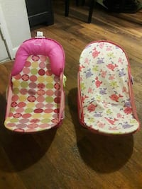 baby's two multicolored rocker bouncer