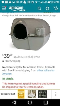 Self cleaning cat box hardly used Camden, 13316